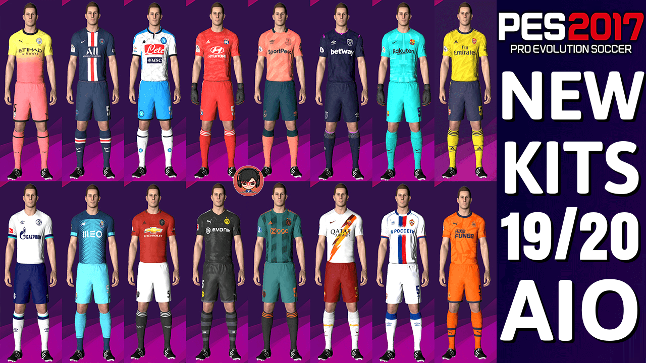 PES 2017 | NEW SEASON KITS 19/20 | 142 KITS | Gaming WitH TR