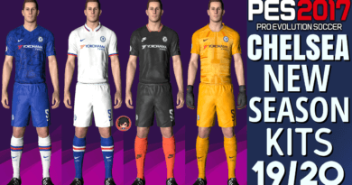 PES 2017   CHELSEA OFFICIAL KITS 19/20