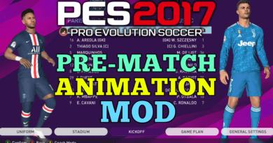 PES 2017 | PRE-MATCH ANIMATION MOD