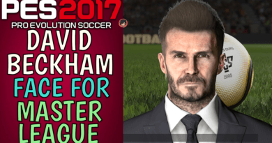 PES 2017 | DAVID BECKHAM FACE FOR MASTER LEAGUE