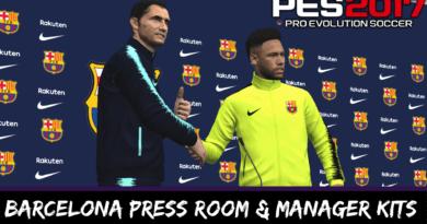 PES 2017 | BARCELONA PRESS ROOM & MANAGER KITS