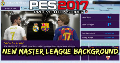 PES 2017 | NEW MASTER LEAGUE BACKGROUND