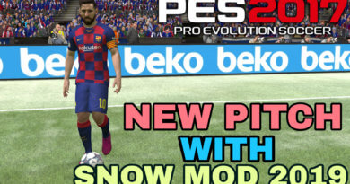 PES 2017 | NEW PITCH WITH SNOW MOD 2019