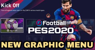 PES 2020 | NEW GRAPHIC MENU