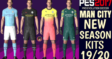 PES 2017 | MANCHESTER CITY OFFICIAL KITS 19/20