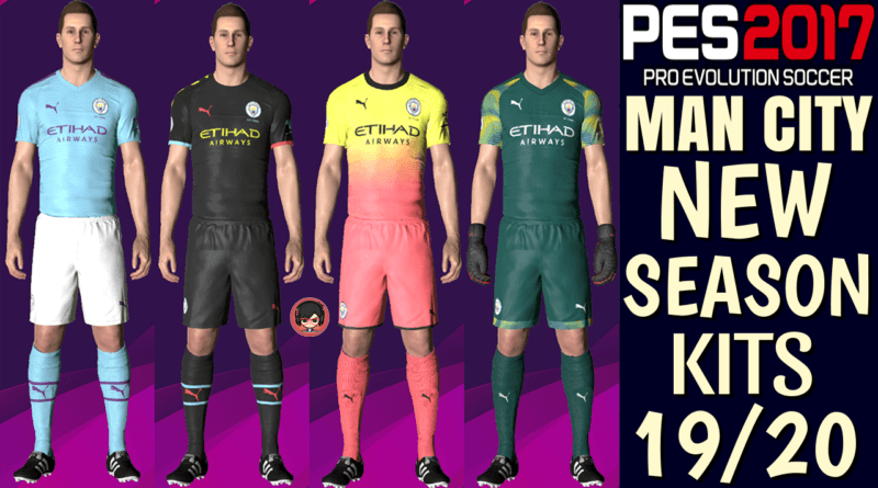 PES 2017   MANCHESTER CITY OFFICIAL KITS 19/20