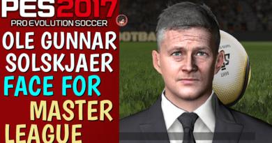 PES 2017 | OLE GUNNAR SOLSKJAER FACE FOR MASTER LEAGUE