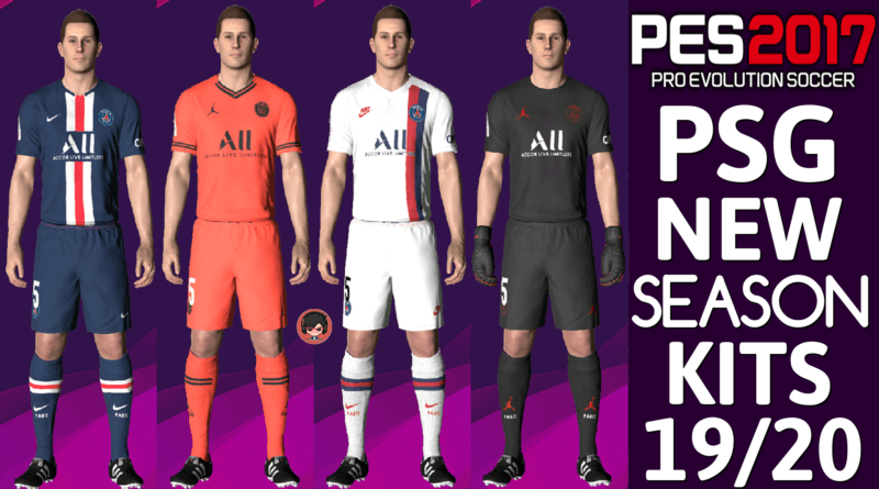 PES 2017 | PSG OFFICIAL KITS 19/20