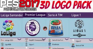 PES 2017   3D LOGO PACK