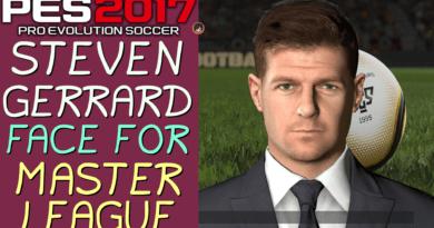 PES 2017 | STEVEN GERRARD FACE FOR MASTER LEAGUE