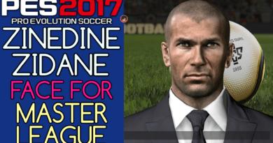 PES 2017 | ZINEDINE ZIDANE FACE FOR MASTER LEAGUE