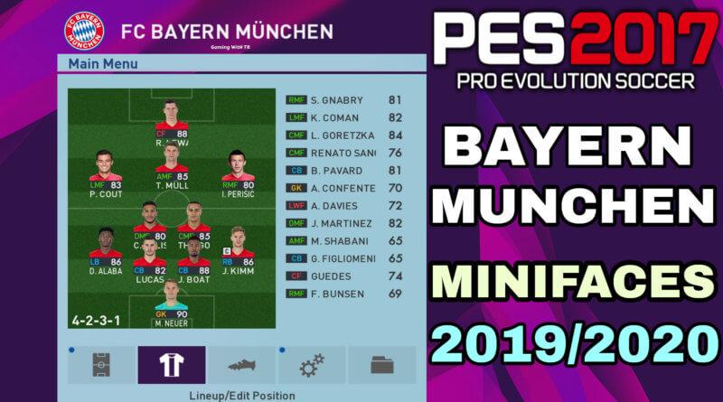 PES 2017   BAYERN MUNCHEN MINIFACES 2019/2020
