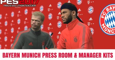 PES 2017 | BAYERN MUNICH PRESS ROOM & MANAGER KITS
