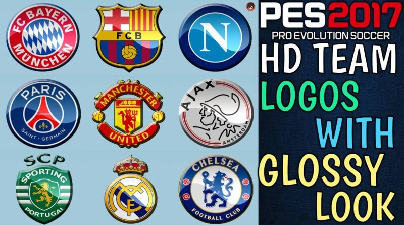 PES 2017   HD TEAM LOGOS WITH GLOSSY LOOK