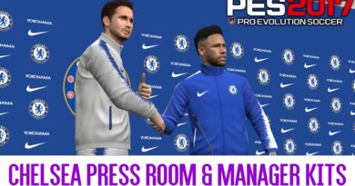 PES 2017 | CHELSEA PRESS ROOM & MANAGER KITS