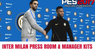 PES 2017 | INTER MILAN PRESS ROOM & MANAGER KITS