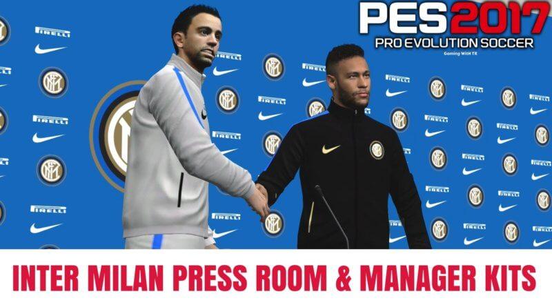 PES 2017 | INTER MILAN PRESS ROOM & MANAGER KITS