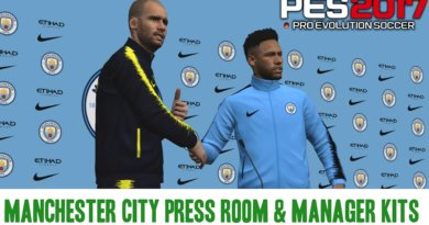 PES 2017 | MANCHESTER CITY PRESS ROOM & MANAGER KITS