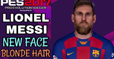 PES 2017 | LIONEL MESSI | NEW FACE & BLONDE HAIR