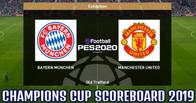 PES 2020   CHAMPIONS CUP SCOREBOARD 2019
