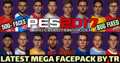 PES 2017 | LATEST MEGA FACEPACK BY TR | BUG FIXED | 500+ FACES