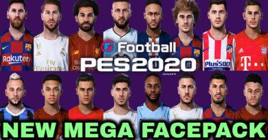 PES 2020 | NEW MEGA FACEPACK