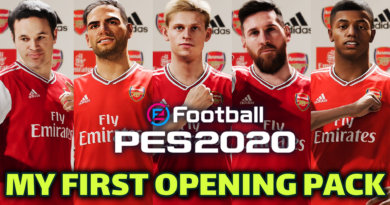 PES 2020   MYCLUB   MY FIRST OPENING PACK   NEW OPTIONS   PLAYER STATS