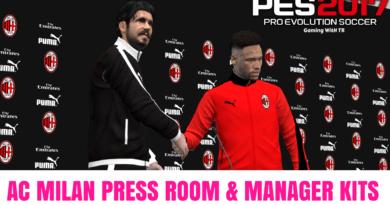 PES 2017 | AC MILAN PRESS ROOM & MANAGER KITS