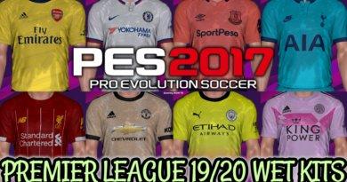 PES 2017 | PREMIER LEAGUE 19/20 WET KITS