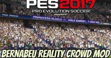 PES 2017 | BERNABEU REALITY CROWD MOD