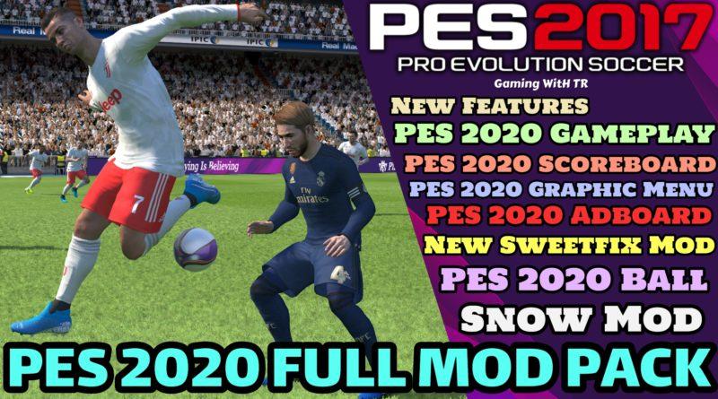 PES 2017 | NEW PES 2020 FULL MOD PACK