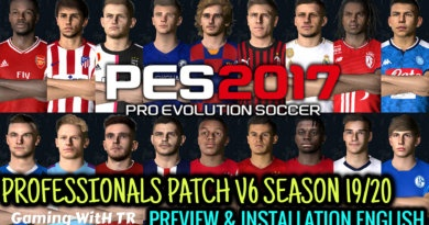 PES 2017 | PROFESSIONALS PATCH V6 SEASON 19/20 | PREVIEW & INSTALLATION BY TR | ENGLISH