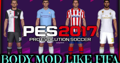 PES 2017 | BODY MOD LIKE FIFA