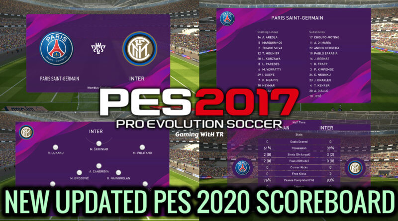 PES 2017 | NEW UPDATED PES 2020 SCOREBOARD