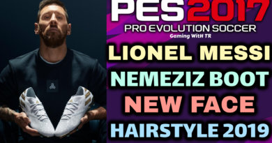 PES 2017 | LIONEL MESSI | NEMEZIZ BOOT | NEW FACE & HAIRSTYLE 2019