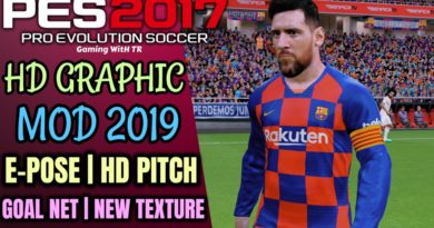 PES 2017 | HD GRAPHIC MOD 2019 | E-POSE | HD PITCH | NEW GOAL NET | NEW TEXTURE