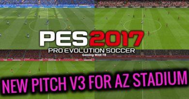 PES 2017   NEW PITCH V3 FOR AZ STADIUM
