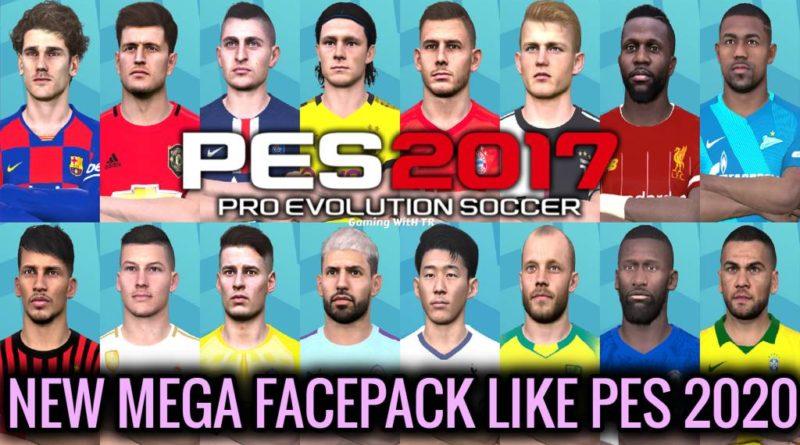 PES 2017 | NEW MEGA FACEPACK LIKE PES 2020
