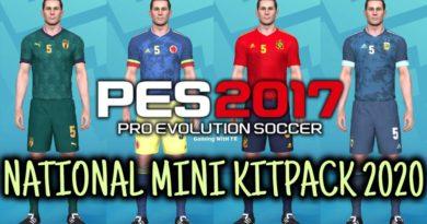 PES 2017   NATIONAL MINI KITPACK 2020