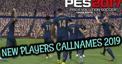 PES 2017 | NEW PLAYERS CALLNAMES 2019