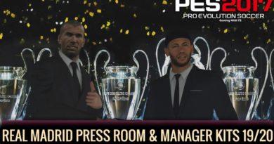 PES 2017 | REAL MADRID PRESS ROOM & MANAGER KITS 19/20