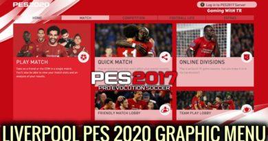 PES 2017 | LIVERPOOL | PES 2020 GRAPHIC MENU