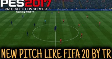 PES 2017 | NEW PITCH LIKE FIFA 2020 BY TR