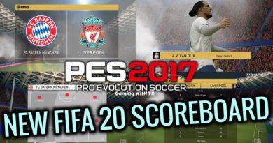 PES 2017   NEW FIFA 20 SCOREBOARD
