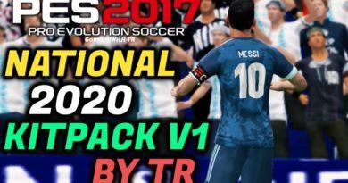 PES 2017 | NATIONAL 2020 KITPACK V1 BY TR