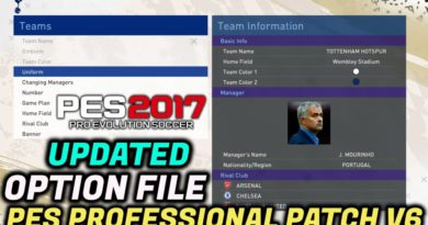 PES 2017   UPDATED OPTION FILE BY TR   PES PROFESSIONAL PATCH V6