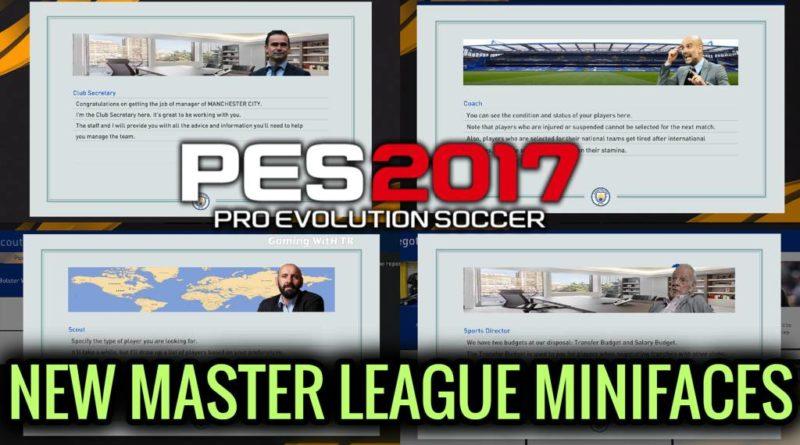 PES 2017   NEW MASTER LEAGUE MINIFACES