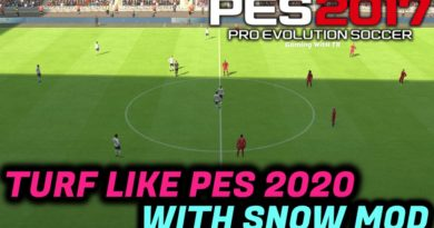 PES 2017 | TURF LIKE PES 2020 WITH SNOW MOD | COMPATIBLE WITH ALL PATCHES