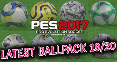 PES 2017 | LATEST BALLPACK 19/20