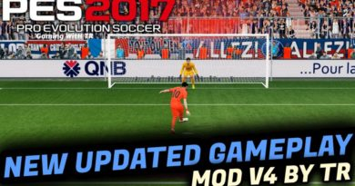 PES 2017 | NEW UPDATED GAMEPLAY MOD V4 BY TR